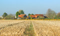 An English Rural Landscape in winter sunshine Royalty Free Stock Photo