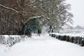 English rurual countryside in Winter snow Royalty Free Stock Image
