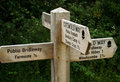 English Signpost Royalty Free Stock Photo