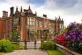 English stately home historic elizabethan mansion and grounds in uk Royalty Free Stock Photos