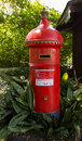 English style pillar box in melbourne round post office mail or garden australia Royalty Free Stock Photo
