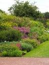 English Summer Cottage Garden Border Royalty Free Stock Photo