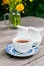 english tea on the table