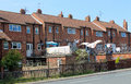 English terraced houses row of in street Royalty Free Stock Images