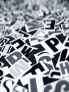 English texts Stock Images