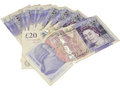 English Twenty Pound Notes Royalty Free Stock Photo