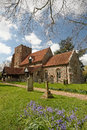 English village church a mediaeval in spring Stock Photos