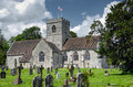 English village church quintessential in the sunshine of a summers afternoon Royalty Free Stock Photos