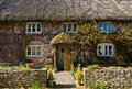 English village cottage quaint timber framed house in a rural Stock Images