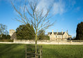 English village manor house and church at the of great oakley corby northamptonshire Royalty Free Stock Images