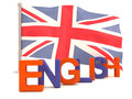 English word with british flag Royalty Free Stock Photos