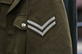 English wwii corporal rank a british army stripes Royalty Free Stock Photos