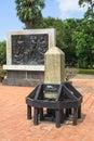 Engrave stone of thai alphabet Royalty Free Stock Photos