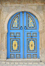 Engraved blue Tunisian door, diverse colour Stock Photos