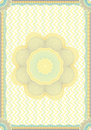 Engraved vector diploma Royalty Free Stock Photo