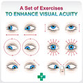 Enhance visual acuity ophthalmic allowance medical a aid set of exercises to increase Royalty Free Stock Images