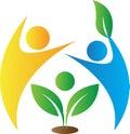 Enironmental care logo Royalty Free Stock Photo
