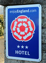 Enjoy England Sign Stock Photos