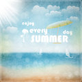 Enjoy every summer day eps vector illustration Royalty Free Stock Photo