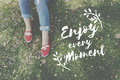 Enjoy Happiness Lifestyle Freedom Fun Concept Royalty Free Stock Photo