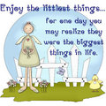 Enjoy the Littlest Things...Country Girl Scene Royalty Free Stock Photos