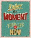 Enjoy the moment vector illustration Royalty Free Stock Images