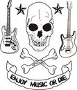 Enjoy music or die Stock Photos