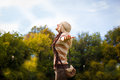 Enjoy in nature blonde woman enjoying the Royalty Free Stock Photography