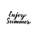 Enjoy Summer Handwritten Lettering
