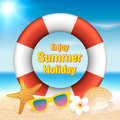 Enjoy summer holiday background. Season vacation, weekend. Vecto