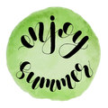 Enjoy summer. Lettering illustration.