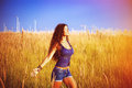 Enjoy in sun and nature Royalty Free Stock Photo