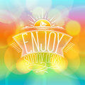 Enjoy sunny days, happy vacation card Royalty Free Stock Photo