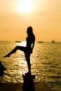 enjoy the sunset Royalty Free Stock Photo
