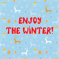Enjoy winter funny background design with pattern Royalty Free Stock Image