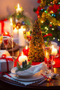 Enjoy your christmas eve in home Royalty Free Stock Photo
