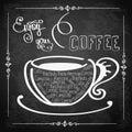 Enjoy your coffee, logo or background