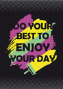 Enjoy your day background for typography and fashion print Stock Photography