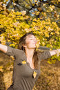 Enjoying autumn. Royalty Free Stock Images
