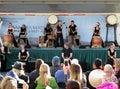 Enjoying the Drum Band Music Royalty Free Stock Photo