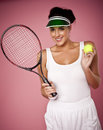 Enjoying the game of tennis. Royalty Free Stock Photography