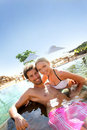 Enjoying honeymoon pleasures Royalty Free Stock Photo