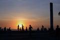 Enjoying-the-sunset Stock Image