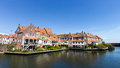 Enkhuizen houses in the netherlands the city was once one of the harbour towns of the voc Royalty Free Stock Image