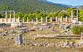 The enkoimeterion ruins of that is two part stoa forming northwest boundary of central sanctuary of asklepios Royalty Free Stock Photography