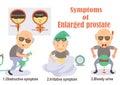 Enlarged prostate symptoms of infographic illustration Stock Photo