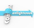 Enlightened arrow vs confusion enlightenment in life the word on an over the word confused to illustrate how can lead the way to a Stock Photo