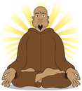 Enlightenment yoga master has achieved through meditation Stock Photography