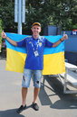 Ennis fan from Ukraine at US Open 2014 at Billie Jean King National Tennis Center