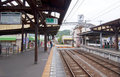 Enoden Fujisawa Station in Japan Royalty Free Stock Photos